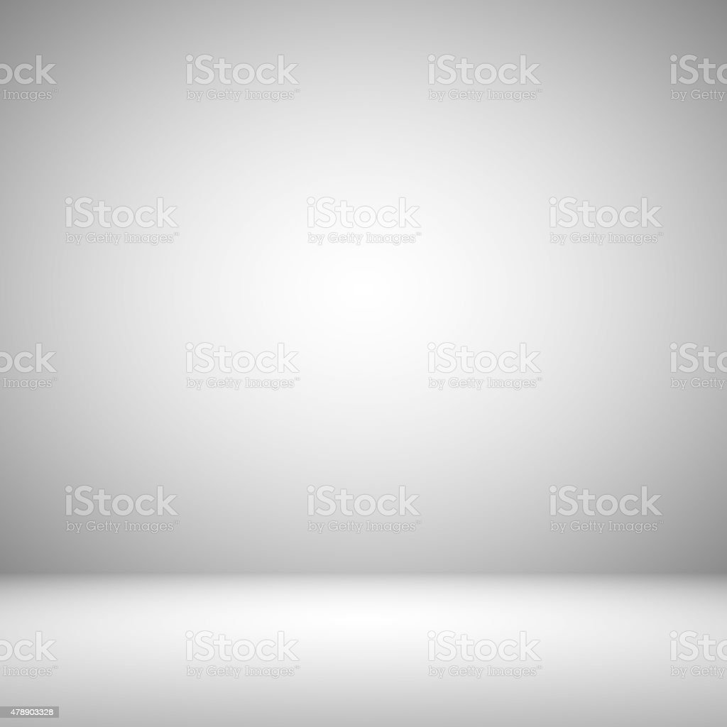 Empty Grey with Black vignette Studio well use as background. stock photo
