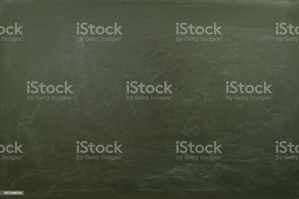 Empty grunge green blackboard texture.