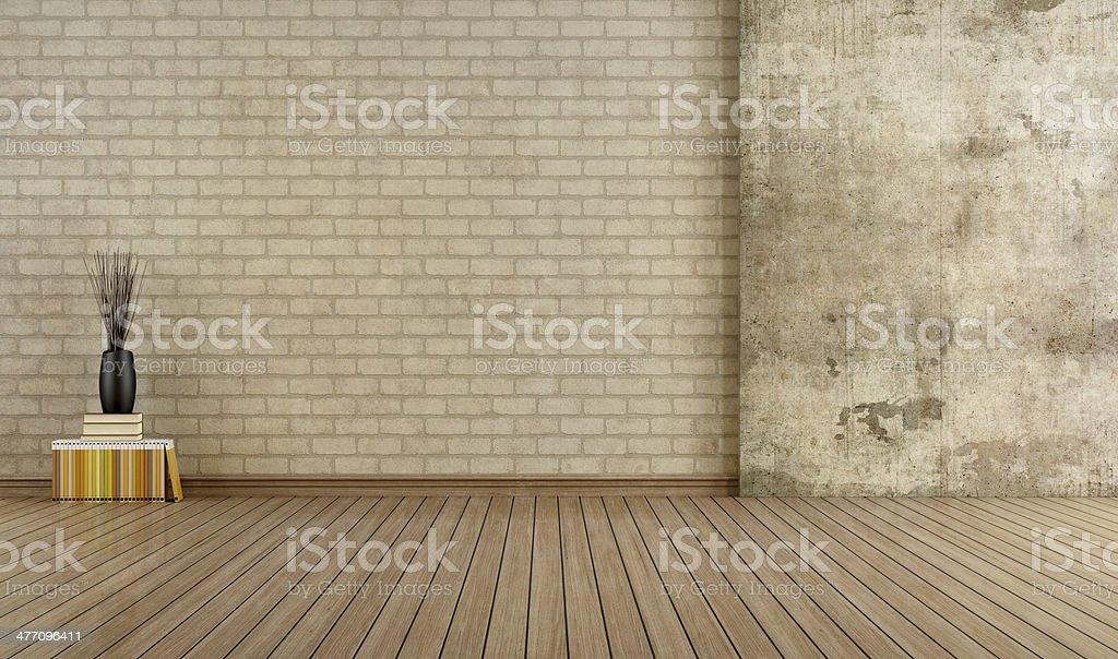 Empty grunge room stock photo