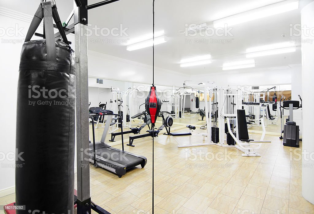 Empty Gym stock photo