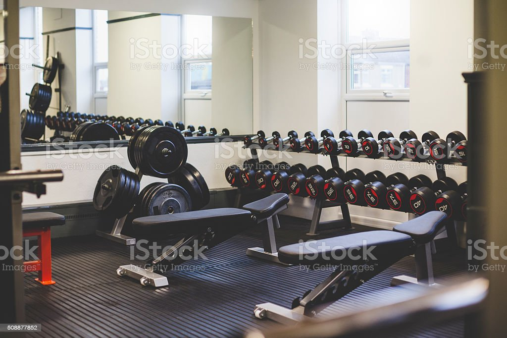 Empty Gym Space stock photo
