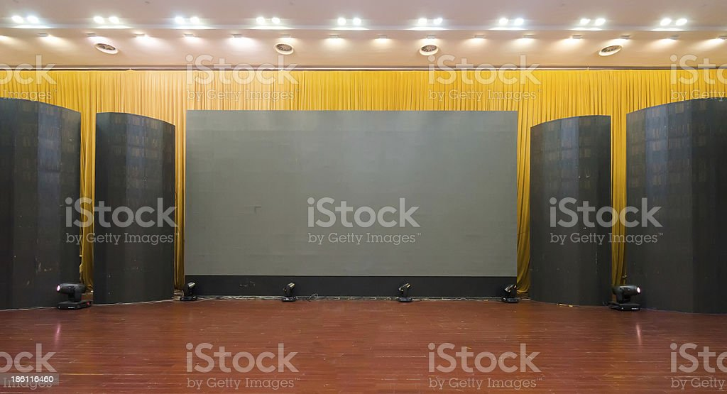 Empty hall of cinema royalty-free stock photo