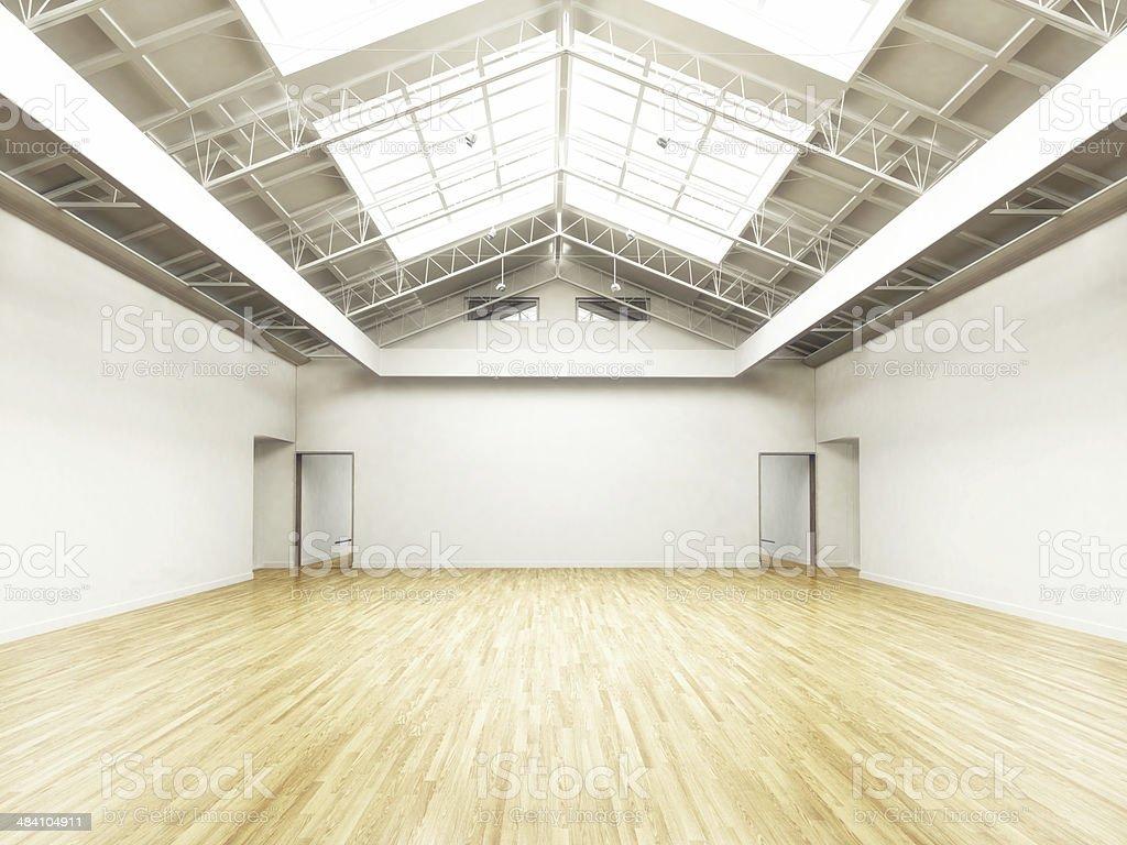 Empty hall stock photo