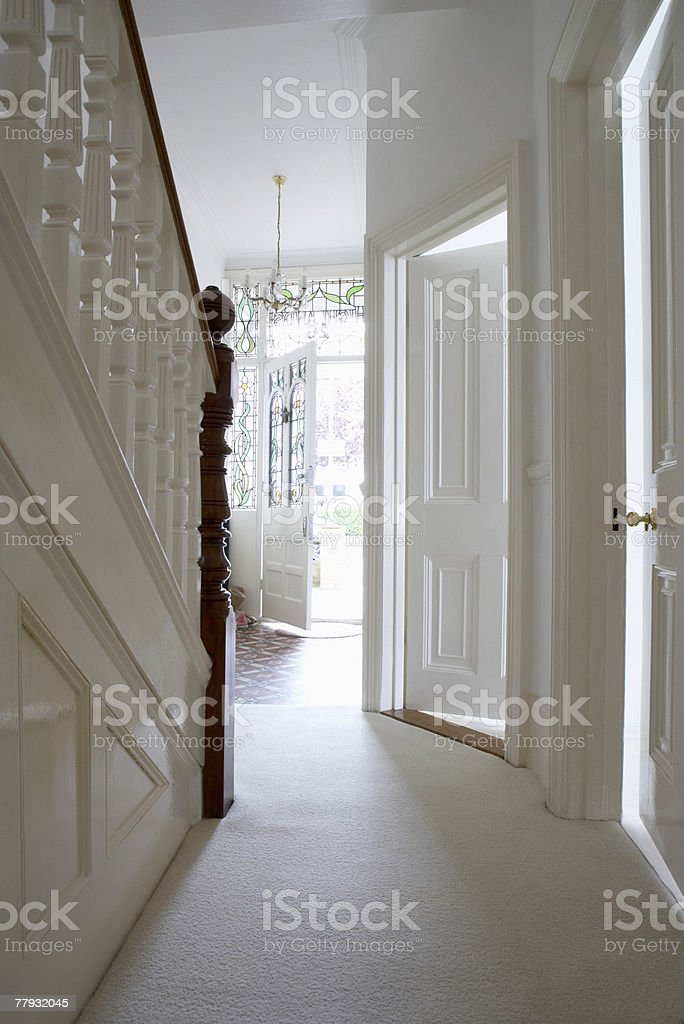 Empty hallway and staircase royalty-free stock photo