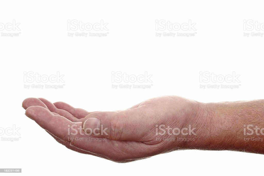Empty Hand royalty-free stock photo