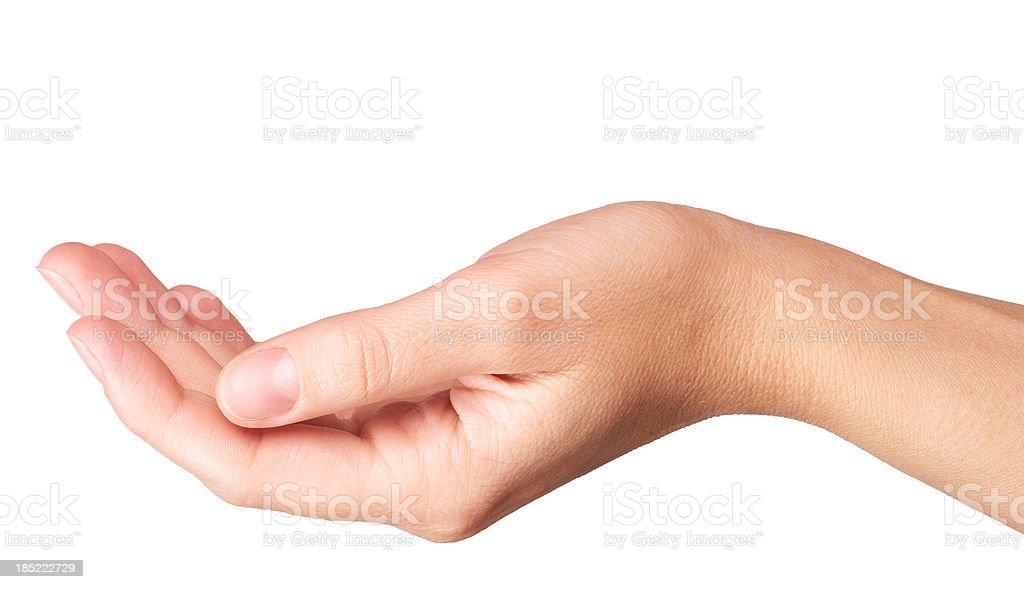 Empty Hand stock photo