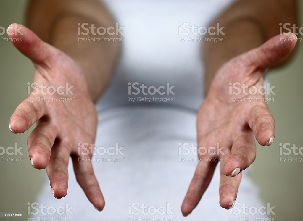 Empty hands royalty-free stock photo