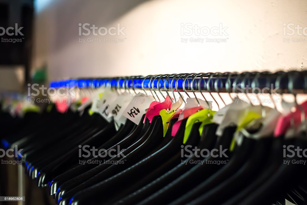 Empty hanger stock photo