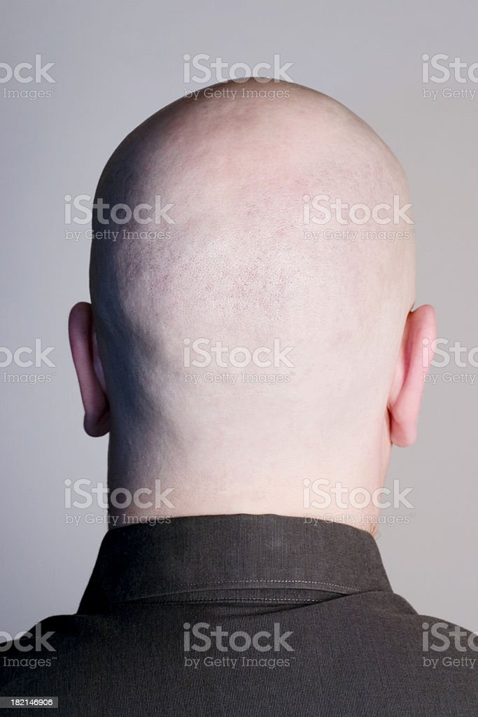 Empty Head on Grey royalty-free stock photo