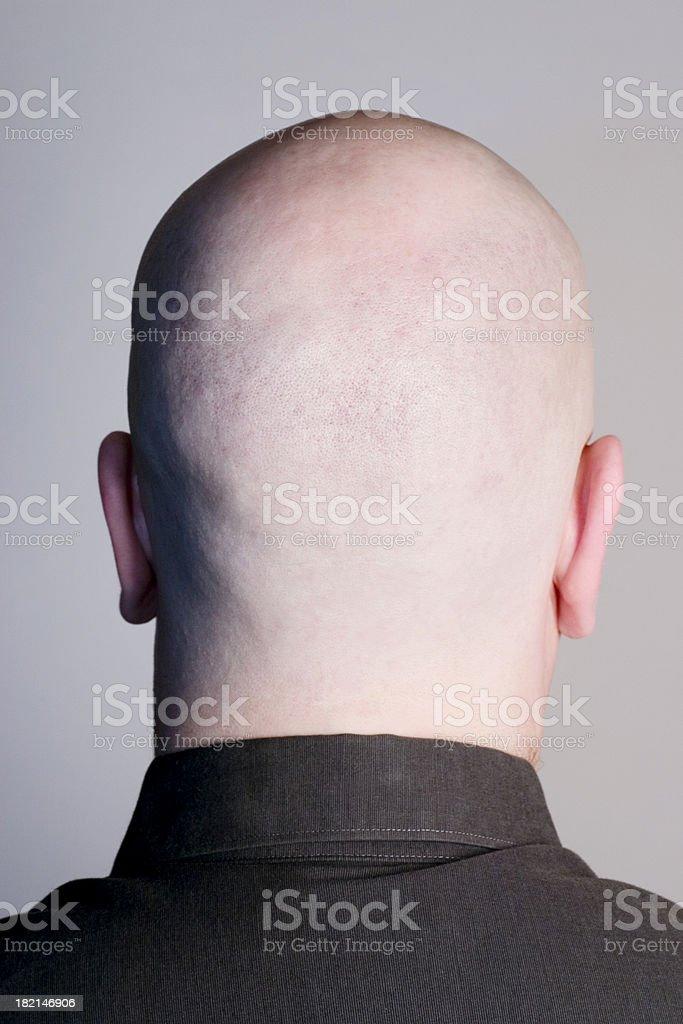 Empty Head on Grey stock photo