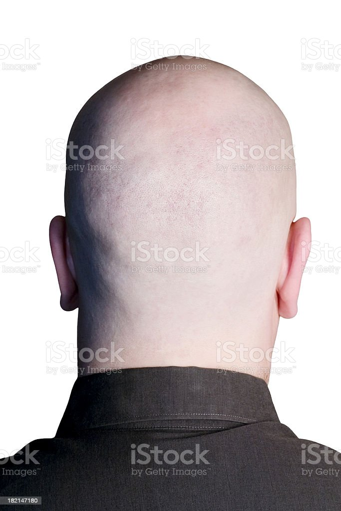 Empty Head on White royalty-free stock photo