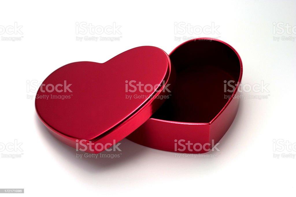 Empty Heart Box stock photo