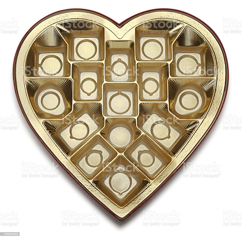 Empty Heart stock photo