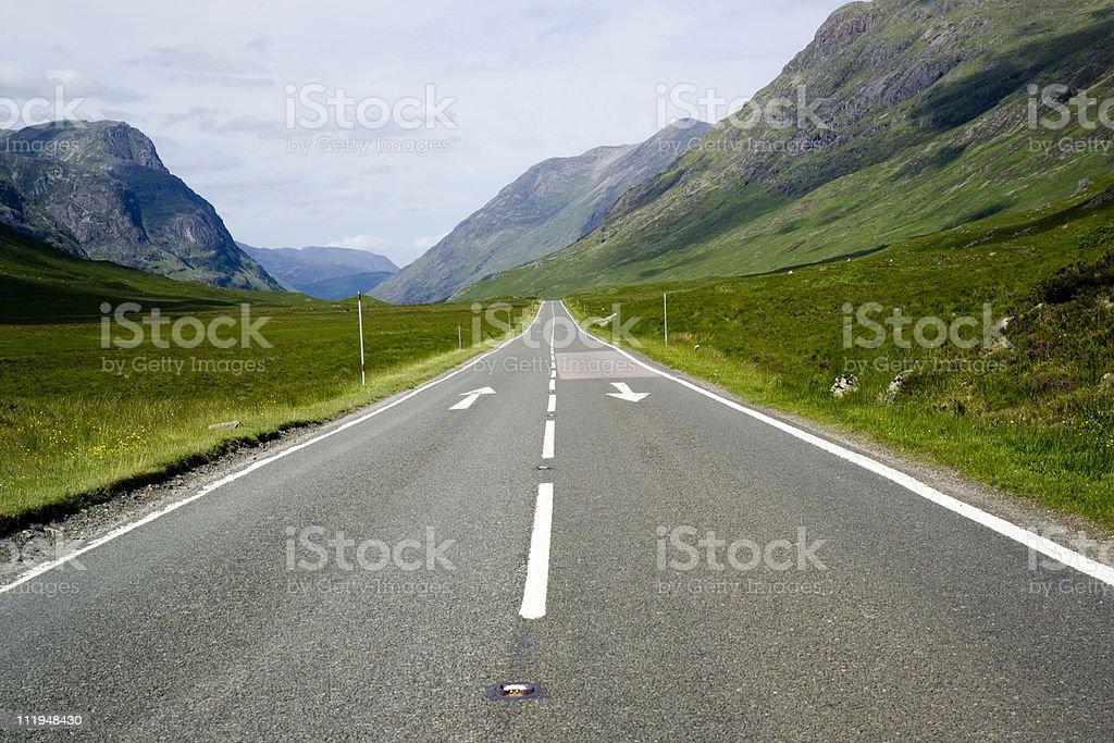 Empty highland road royalty-free stock photo