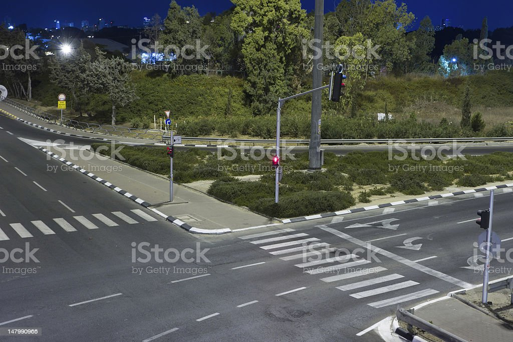 Empty highway at night. royalty-free stock photo