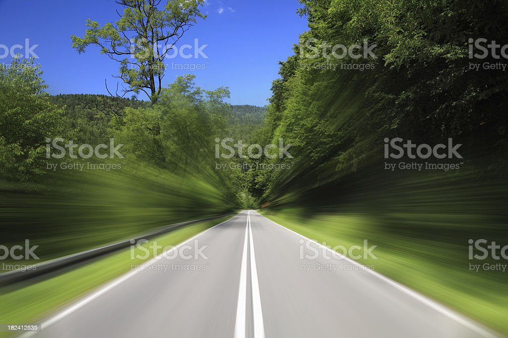 Empty Highway - high speed royalty-free stock photo