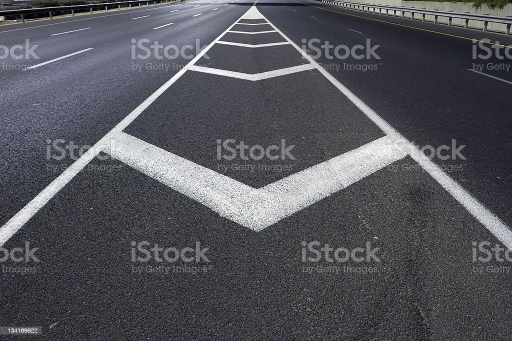 Empty highway stock photo
