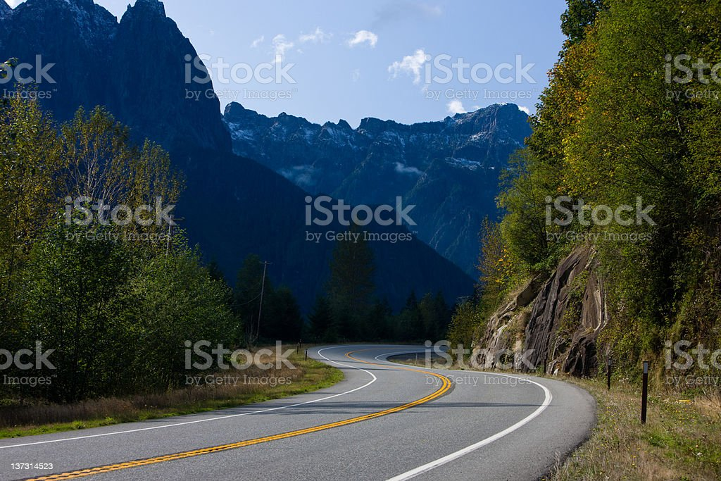 Empty Highway royalty-free stock photo
