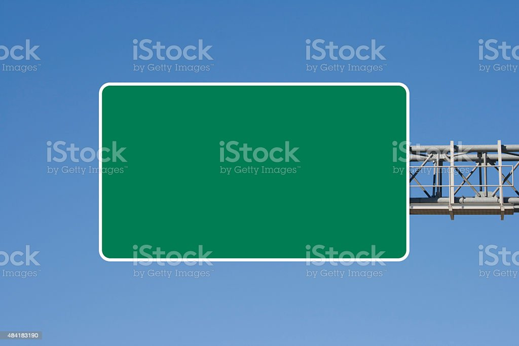Empty highway sign stock photo