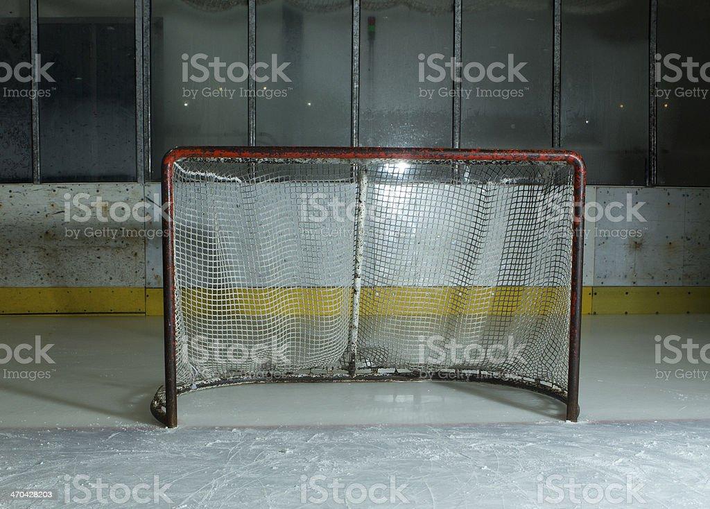 Empty hockey gate royalty-free stock photo