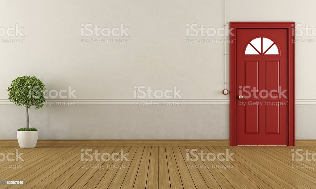Empty home entrance stock photo