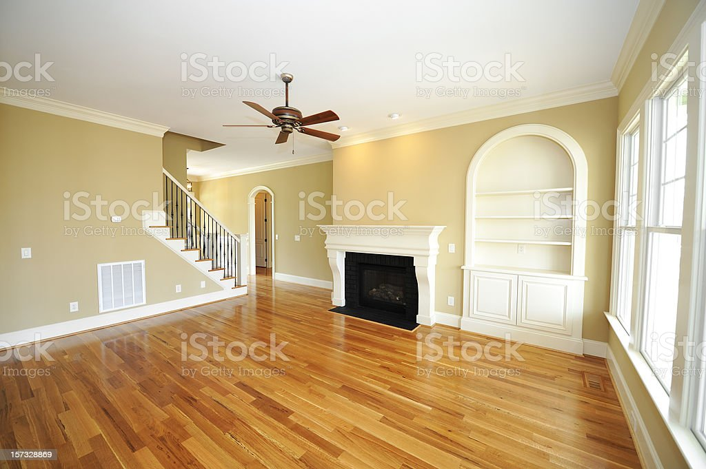 Empty home interior ready to be filled with furniture royalty-free stock photo