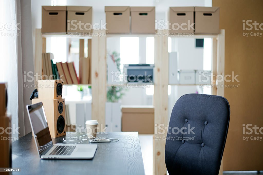 Empty home office. stock photo