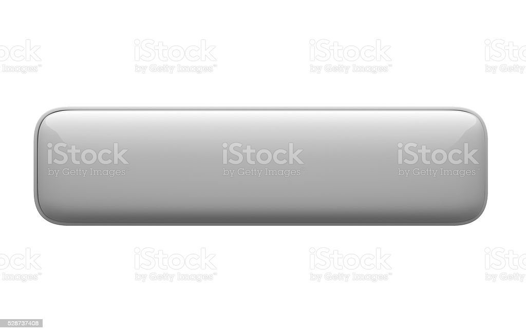 empty horizontal 3d push button icon white on white background stock photo