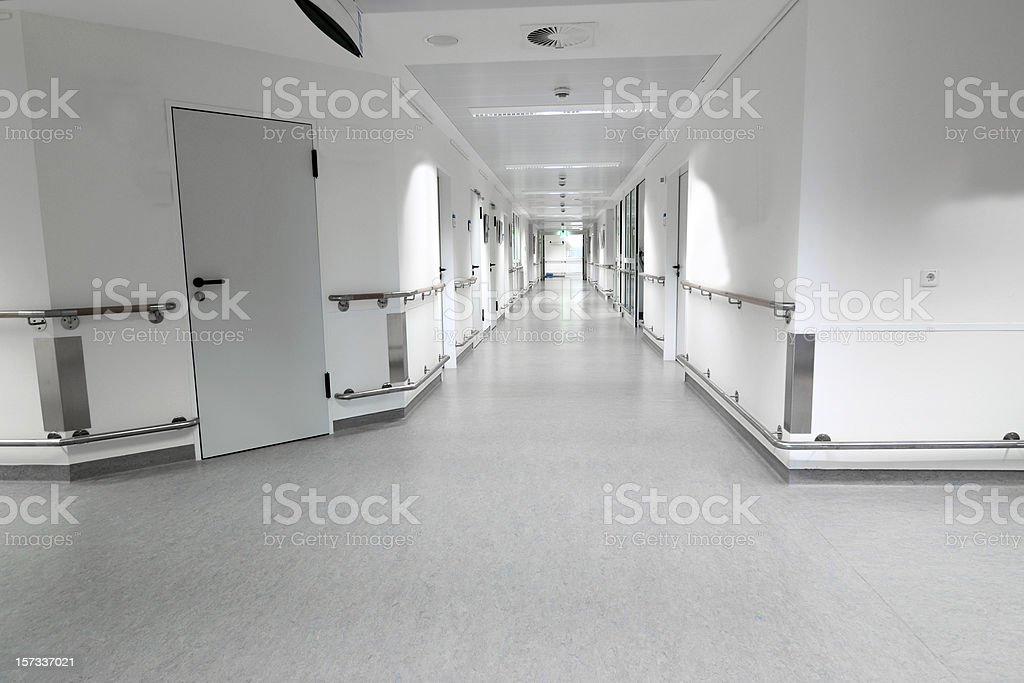 Empty hospital floor royalty-free stock photo