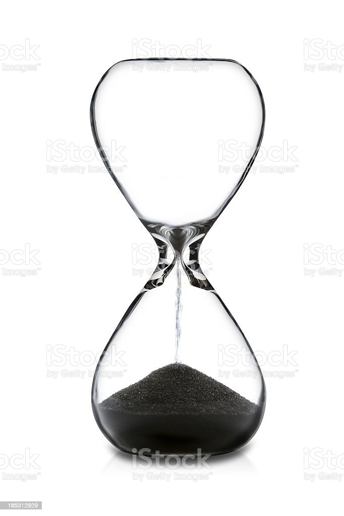 Empty Hourglass stock photo