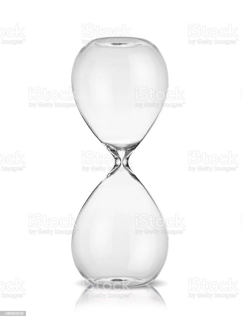 Empty hourglass stock photo