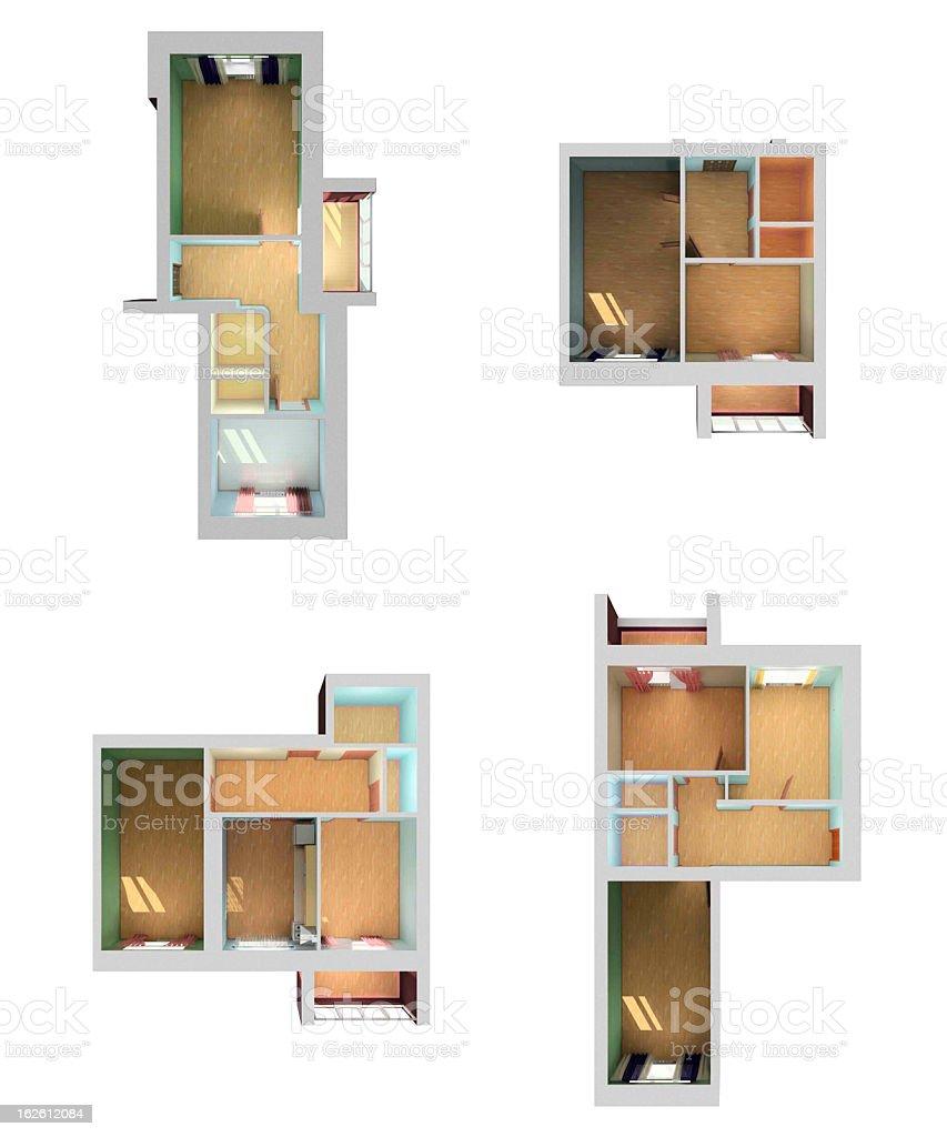 vaco casa diseo d de vista superior foto de stock libre de derechos