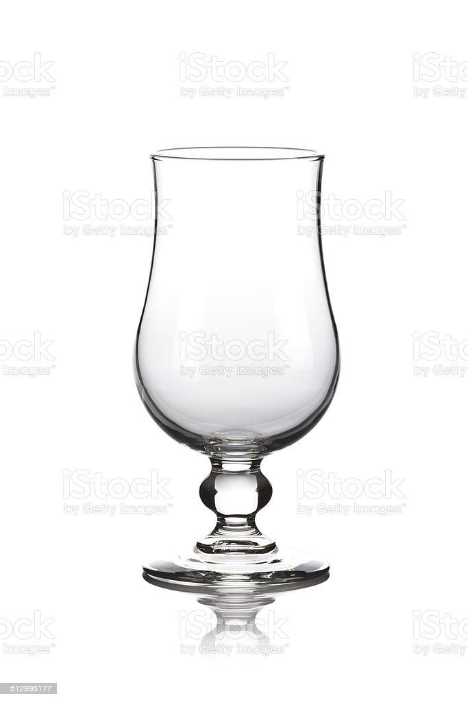 Empty Hurricane Glass stock photo