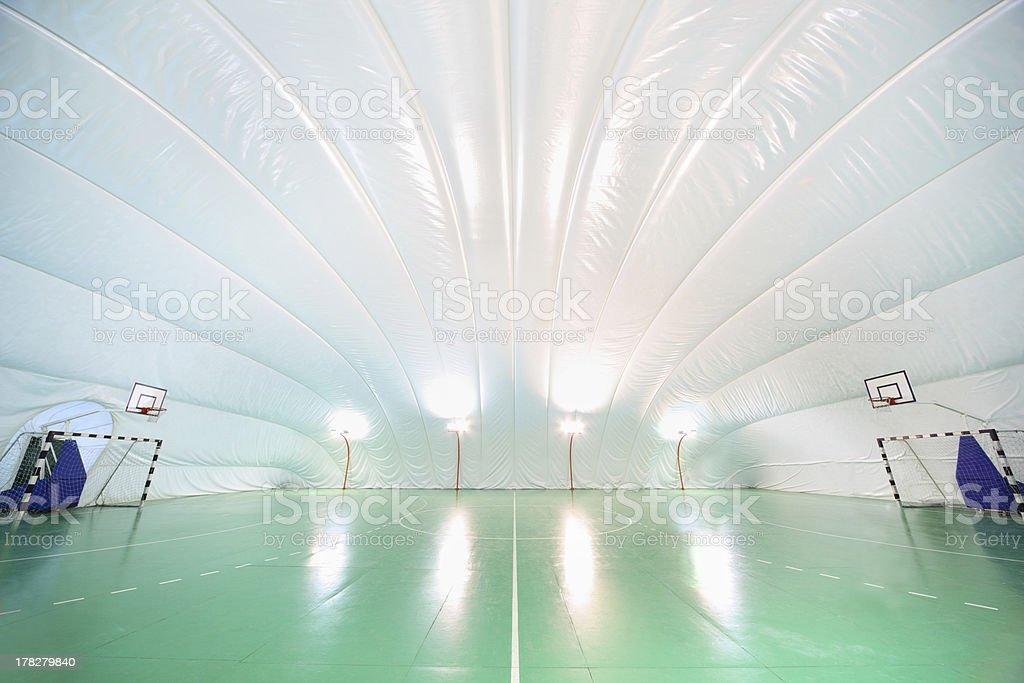 Empty indoor sports ground royalty-free stock photo