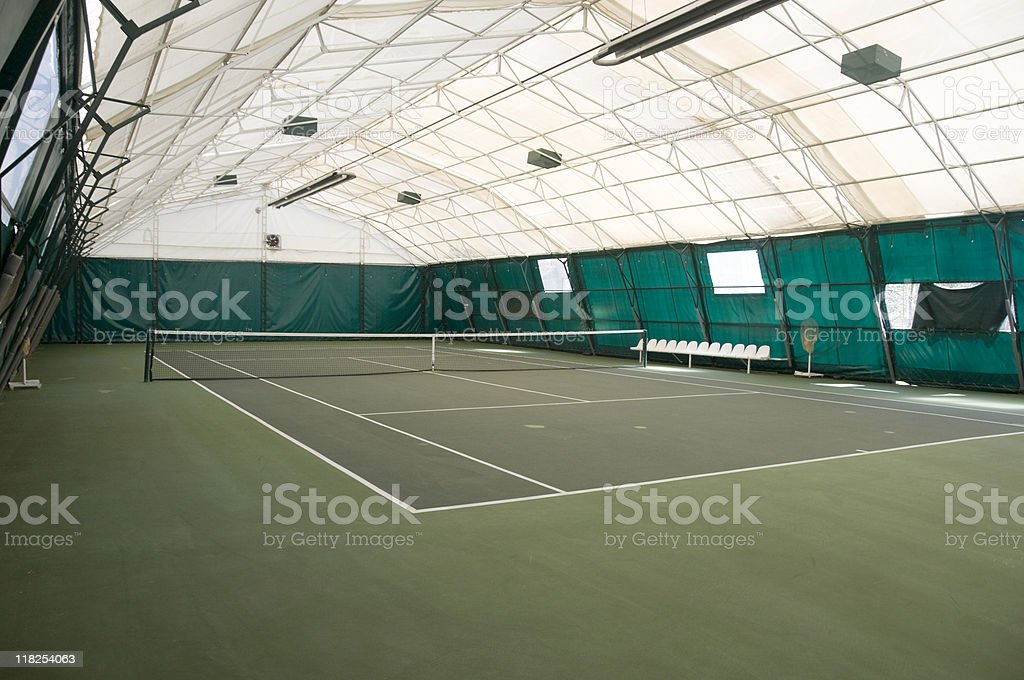 Empty indoor tennis court, Turkey, Istanbul stock photo