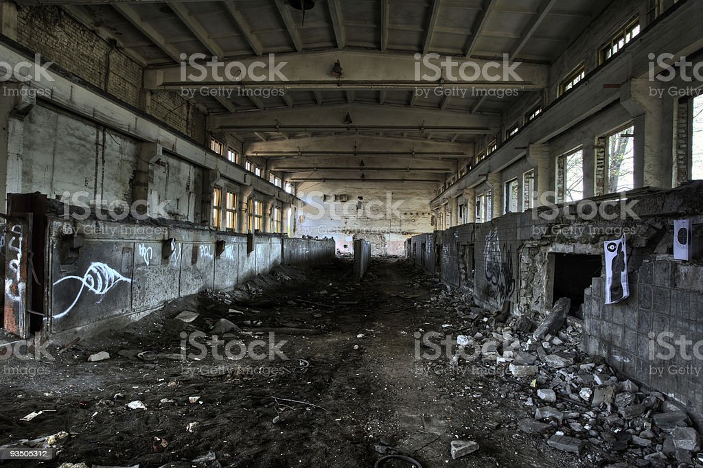 Empty industrial room royalty-free stock photo