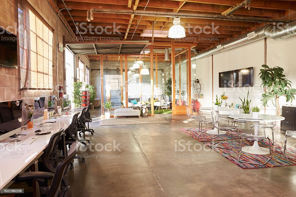 Empty Interior Of Modern Design Office stock photo