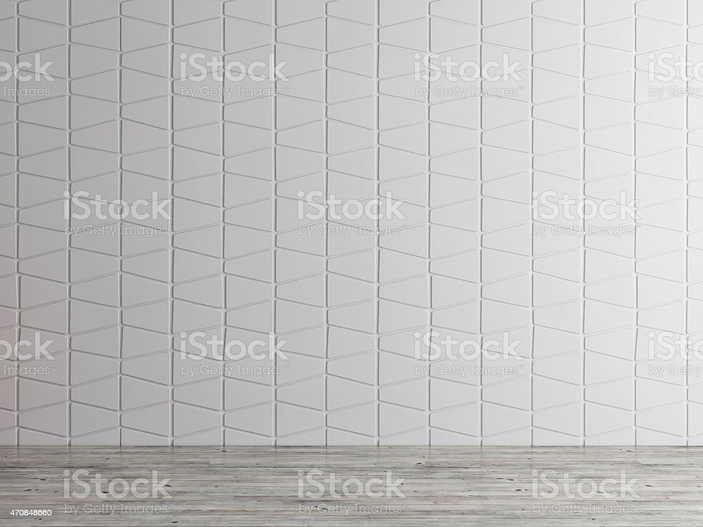 empty interior space wall background, 3d illustration stock photo