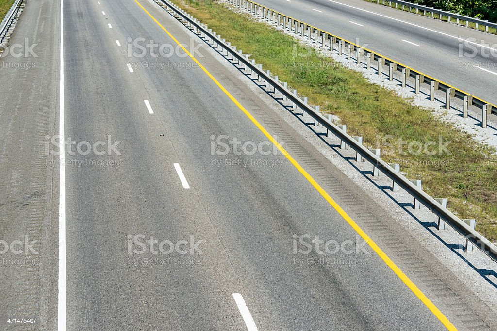 Empty Interstate Highway royalty-free stock photo