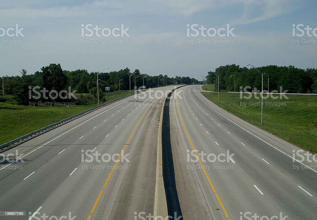 Empty Interstate royalty-free stock photo