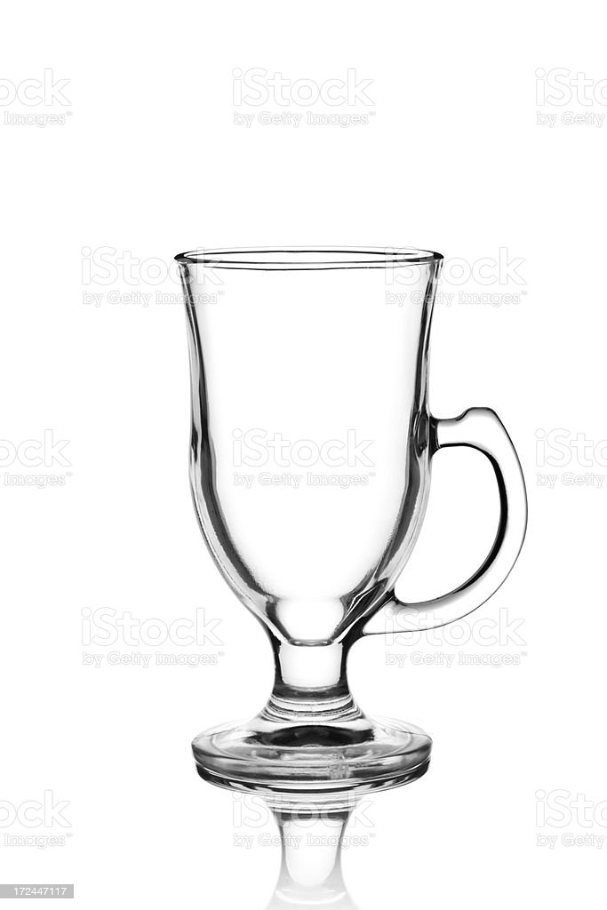 Empty Irish Coffee Glass stock photo