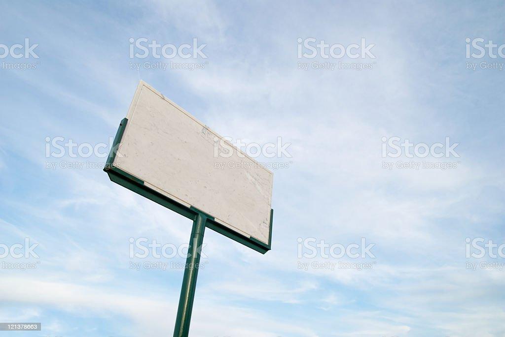 empty Italian street name sign royalty-free stock photo