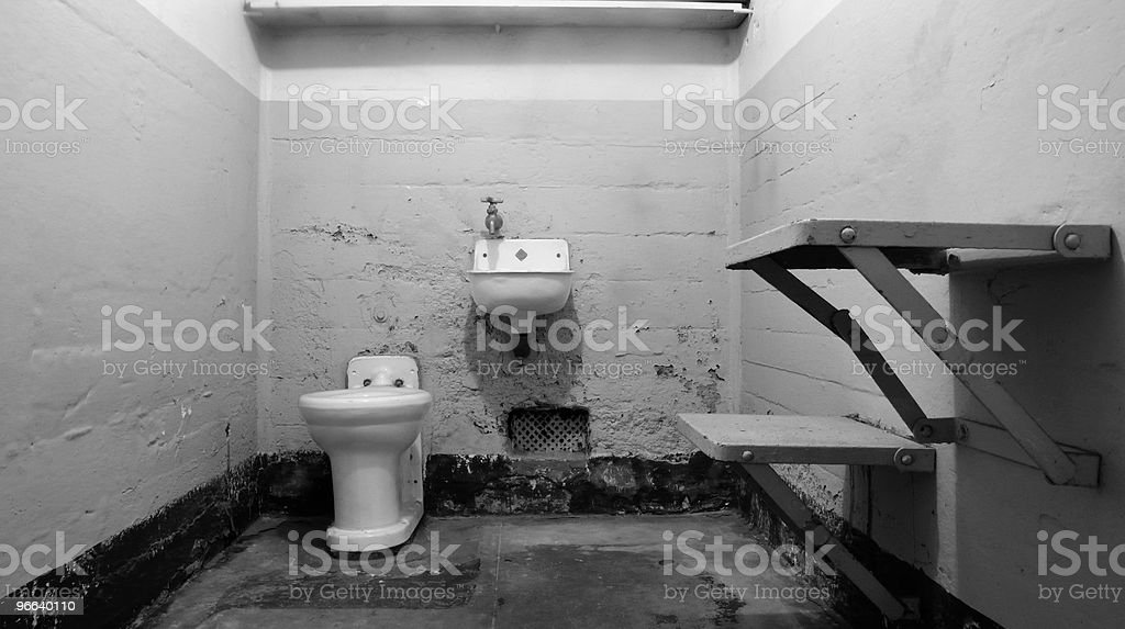 Empty Jail Cell royalty-free stock photo