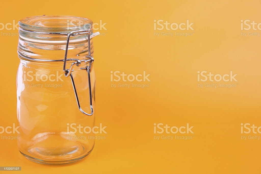 Empty Jar royalty-free stock photo