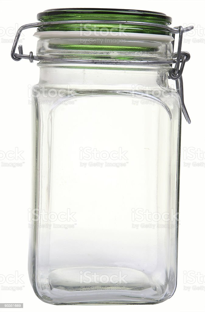 empty jar stock photo