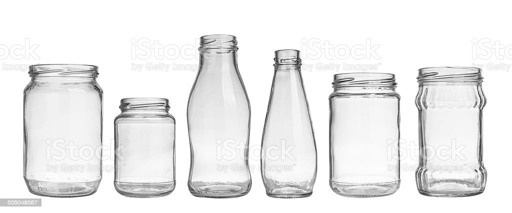 empty jars stock photo