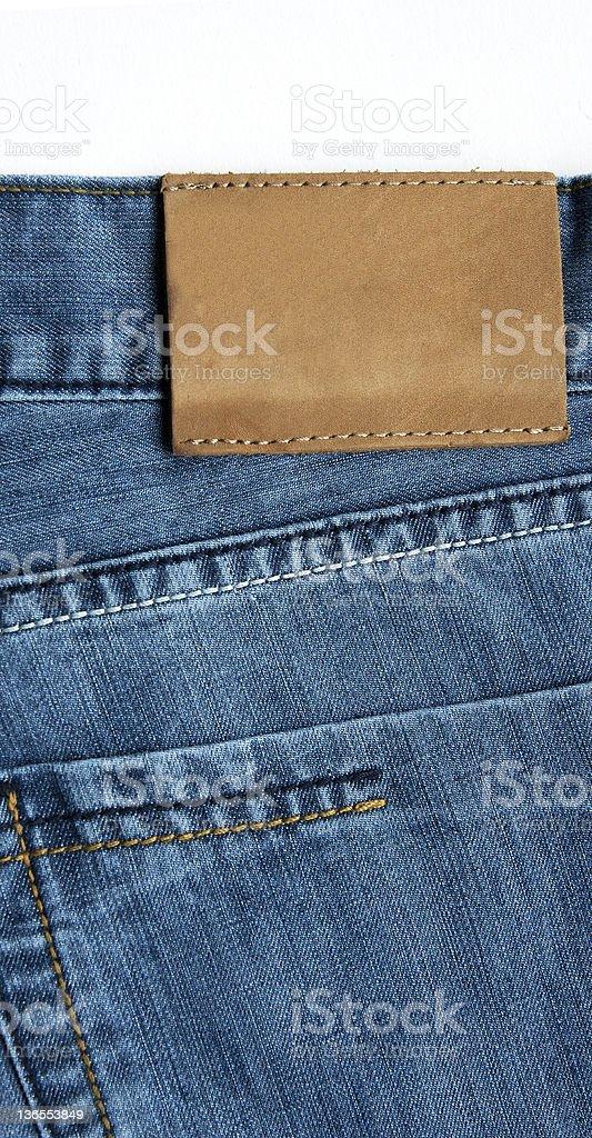Empty Jeans Label stock photo