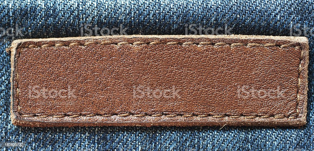 Empty jeans label royalty-free stock photo