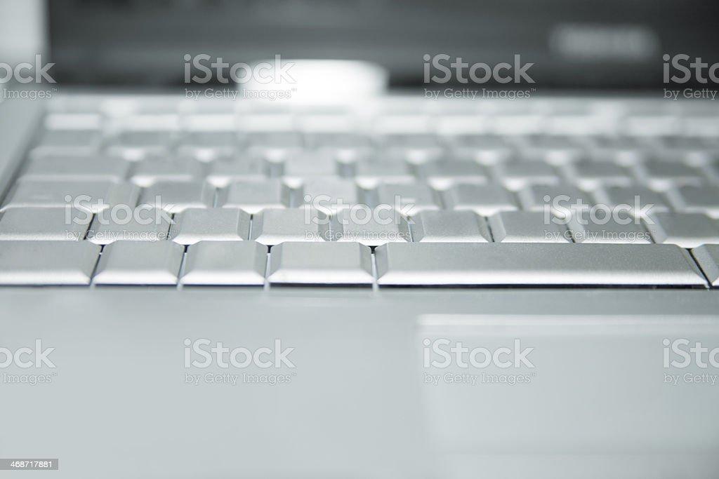 Empty keyboard stock photo