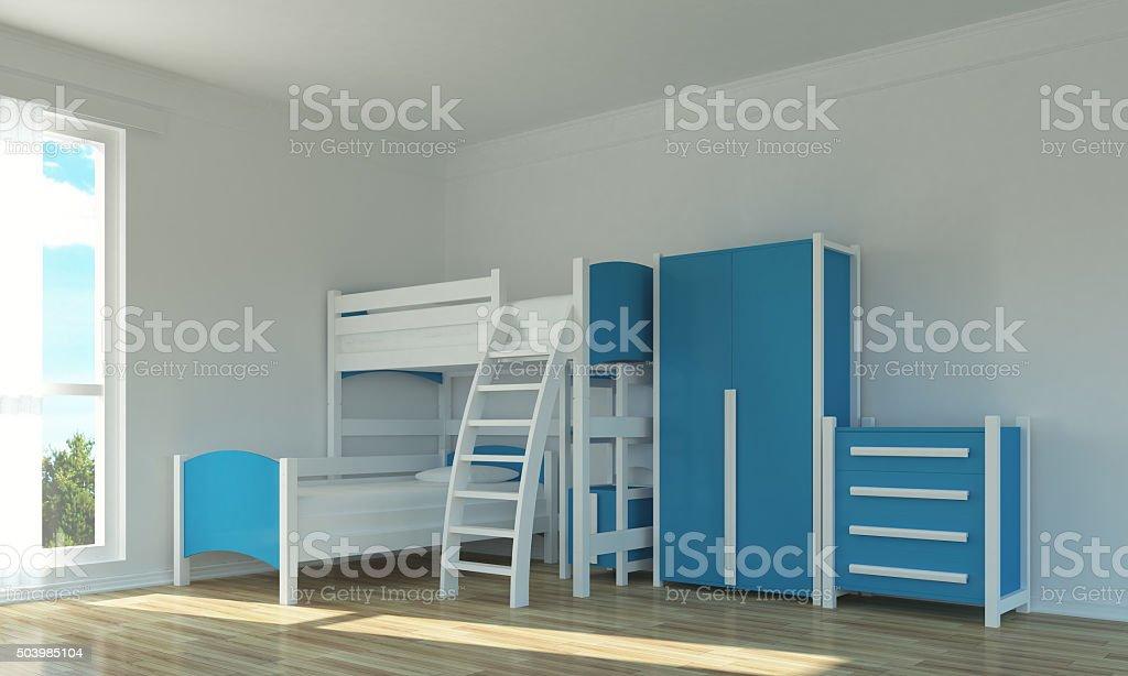Empty kids room stock photo